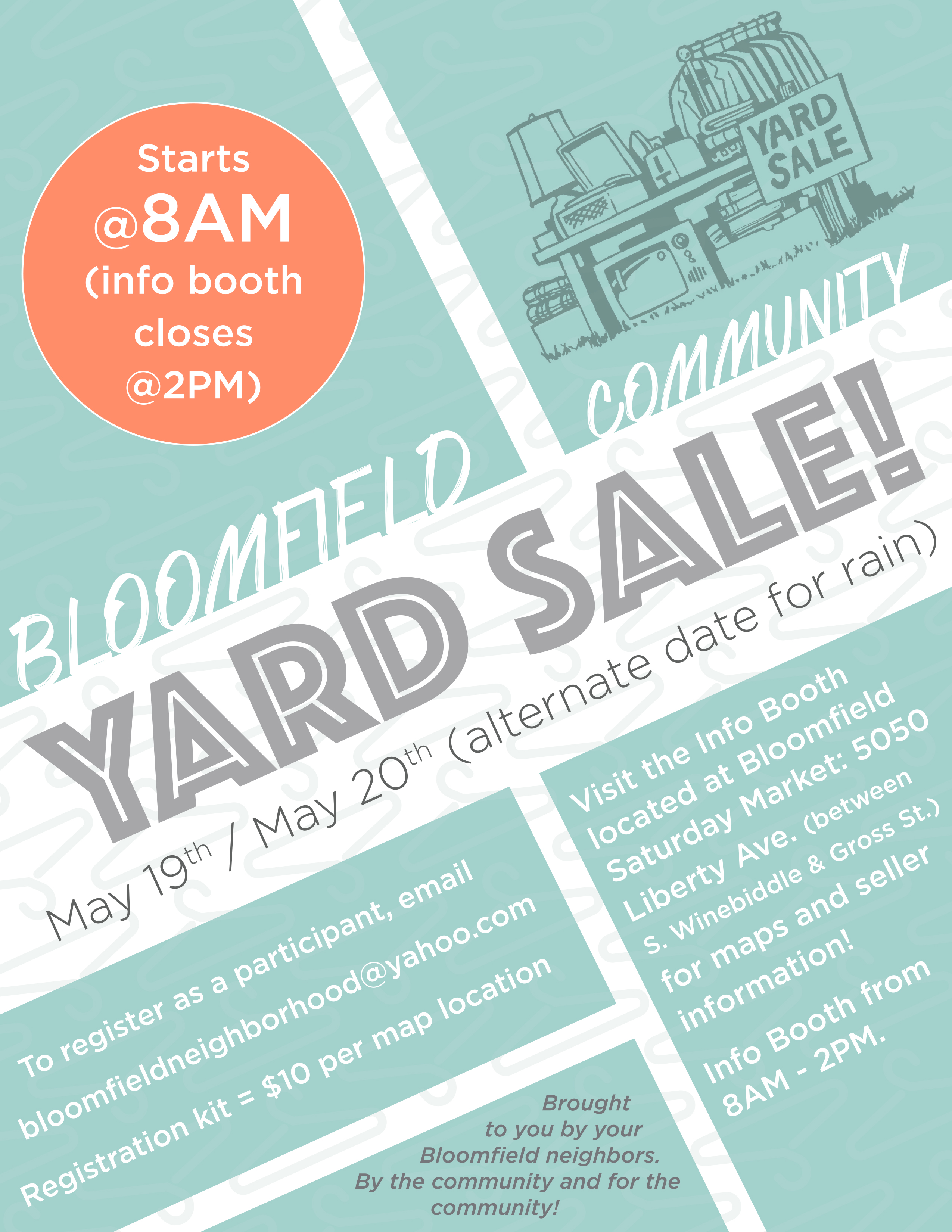 SAT 05 19 2018 Event Bloomfield Community Yard Sale